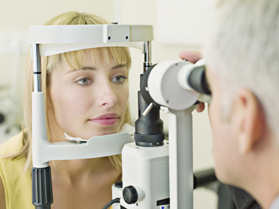 Ophthalmology Patient and Clinician Photo 400 px Width